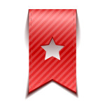 Red bookmark with star